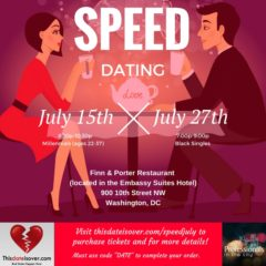 Upcoming Events: Speed Dating – July 2017