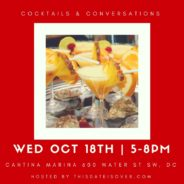 Cocktails & Conversations: Oct. 18th!